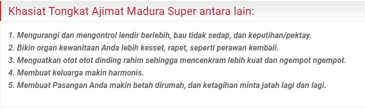 Khasiat Tongkat Ajimat Madura Super